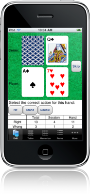 Blackjack Mentor for iPhone